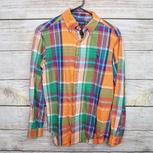 Ralph Lauren Button Down Plaid Small